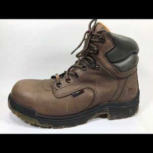 Timberland Pro Leather Steel Toe Work Boots 8.5M